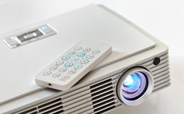 Home cinema LED projector. Mini home cinema LED projector Stock Photography