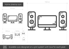 Home cinema line icon. Royalty Free Stock Photos