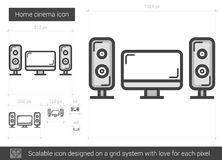 Home cinema line icon. Royalty Free Stock Photography