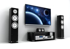 TV and hi-fi Royalty Free Stock Photo
