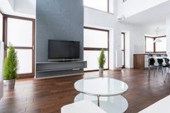 Home cinema. New exclusive lounge with home cinema stock image