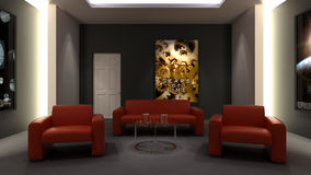 Home Cinema. Room - Back view Stock Images