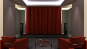 Home Cinema Royalty Free Stock Photography