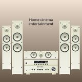 Home cinema speker system Stock Photos
