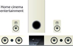 Home cinema speker system Stock Photography