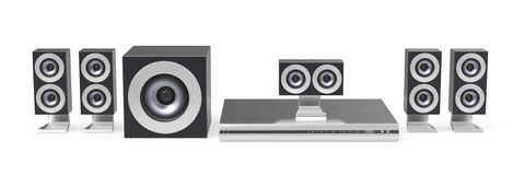 Home cinema system Royalty Free Stock Image