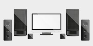 Home cinema system Stock Image