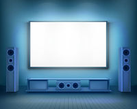 Home cinema.  Vector illustration. Royalty Free Stock Images