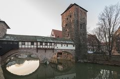 Home of the city`s official executioner Henkerhaus of the city of Nuremberg royalty free stock photography