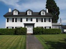HOME clássica da história da madeira três dos anos 30. Fotos de Stock Royalty Free