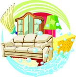 Home clean royalty free illustration