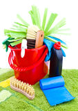 Home cleaning supplies Stock Images