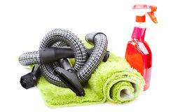 Home cleaning supplies Royalty Free Stock Image