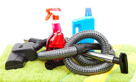 Home cleaning supplies Stock Photo