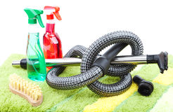 Home cleaning supplies Royalty Free Stock Photo
