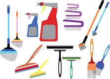 Home cleaning tools. Illustrator vector illustration