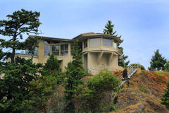 Home on Cliff Stock Photography