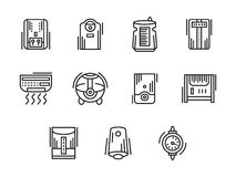 Home climate equipment black line icons Stock Image