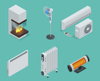 Home climate equipment isometric icon Royalty Free Stock Images