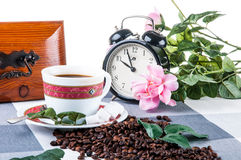 Home coffee break time. Lovely home concept, coffee break Royalty Free Stock Image