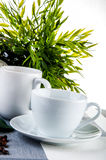 Home coffee break time. Lovely home concept, coffee break Stock Images