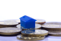 Home with coin isolated Stock Photo