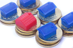 Home with coin Stock Photography