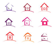 Home collection of  icons Royalty Free Stock Images