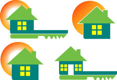 Home collection logos Stock Images