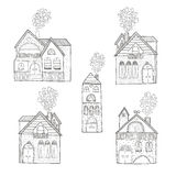 Home collection. Vector home collection isolated on white background, house hand drawn with love Royalty Free Stock Images