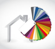 Home and color guide icon illustration Royalty Free Stock Photo