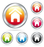 Home colorful buttons. Royalty Free Stock Image