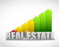 Home colorful real estate house graph chart Stock Image