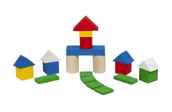 Home of colorful wooden blocks . Stock Images