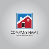 Home company logo. This is home company logo icon vector Royalty Free Stock Photography