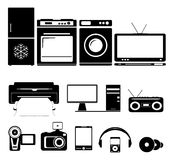 Home and computer equipment Stock Image