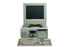 Home Computer Isolated Stock Photos