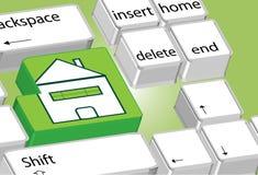 Home computer symbol Stock Image