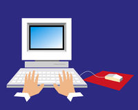 Home computing royalty free stock photo