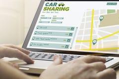 Home computing car sharing Royalty Free Stock Photo
