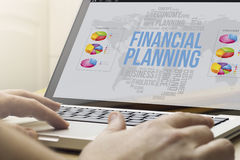 Home computing financial planning Stock Images