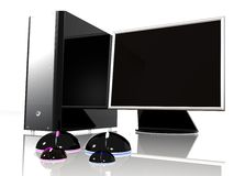 Home computing - mouse family 2 Stock Photos