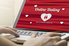 Home computing online dating Stock Photography