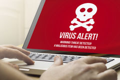 Home computing  virus alert Stock Photography