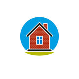 Home conceptual illustration, vector simple house constructed wi Stock Image
