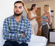 Home conflict among three young adults Stock Images