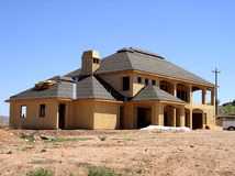 Home in construction. A home in construction phase Stock Photos