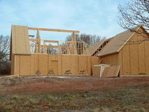 Home Construction 2. New house being built in Oklahoma Royalty Free Stock Photos