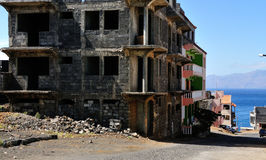 Home Construction in Achada Sao Filipe Stock Photos
