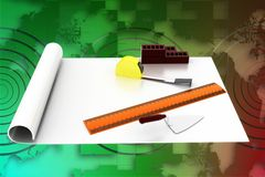 Home construction details illustration Royalty Free Stock Image